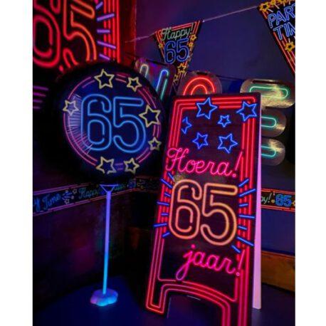 65 neon bord balon