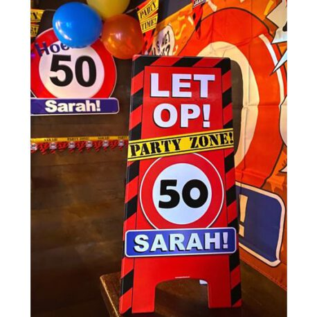 sarah verkeersbord ballon
