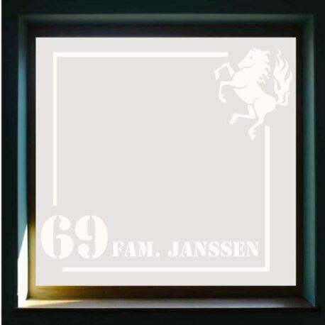 sticker raam 69