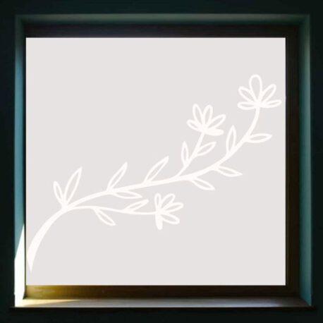sticker raam bloem