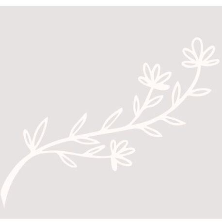 sticker raam bloem afb