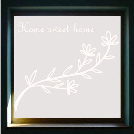 sticker raam home sweet homme