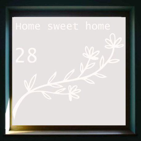 sticker raam home sweet homme 28