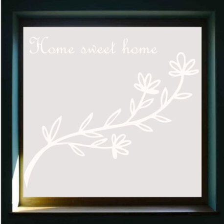 sticker raam home sweet homme