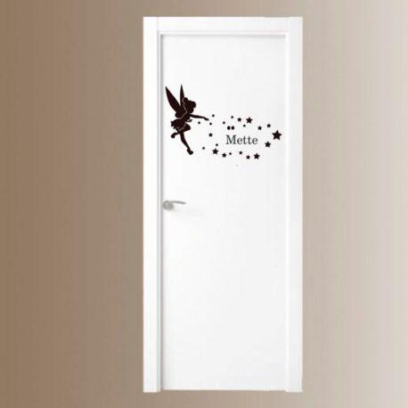tinkelbell met sterren deur