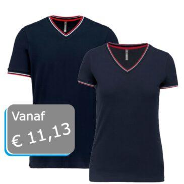 T-shirt piqué V-hals