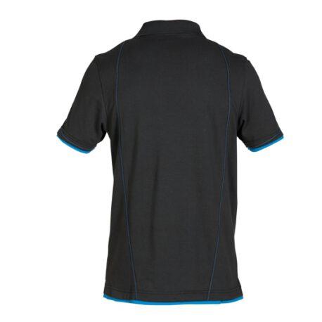 zwart met blauw
