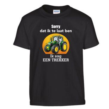 Kinder T-shirt Sorry dat ik te laat ben ik zag een trekker