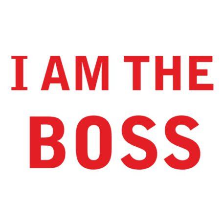 i am the boss tekst
